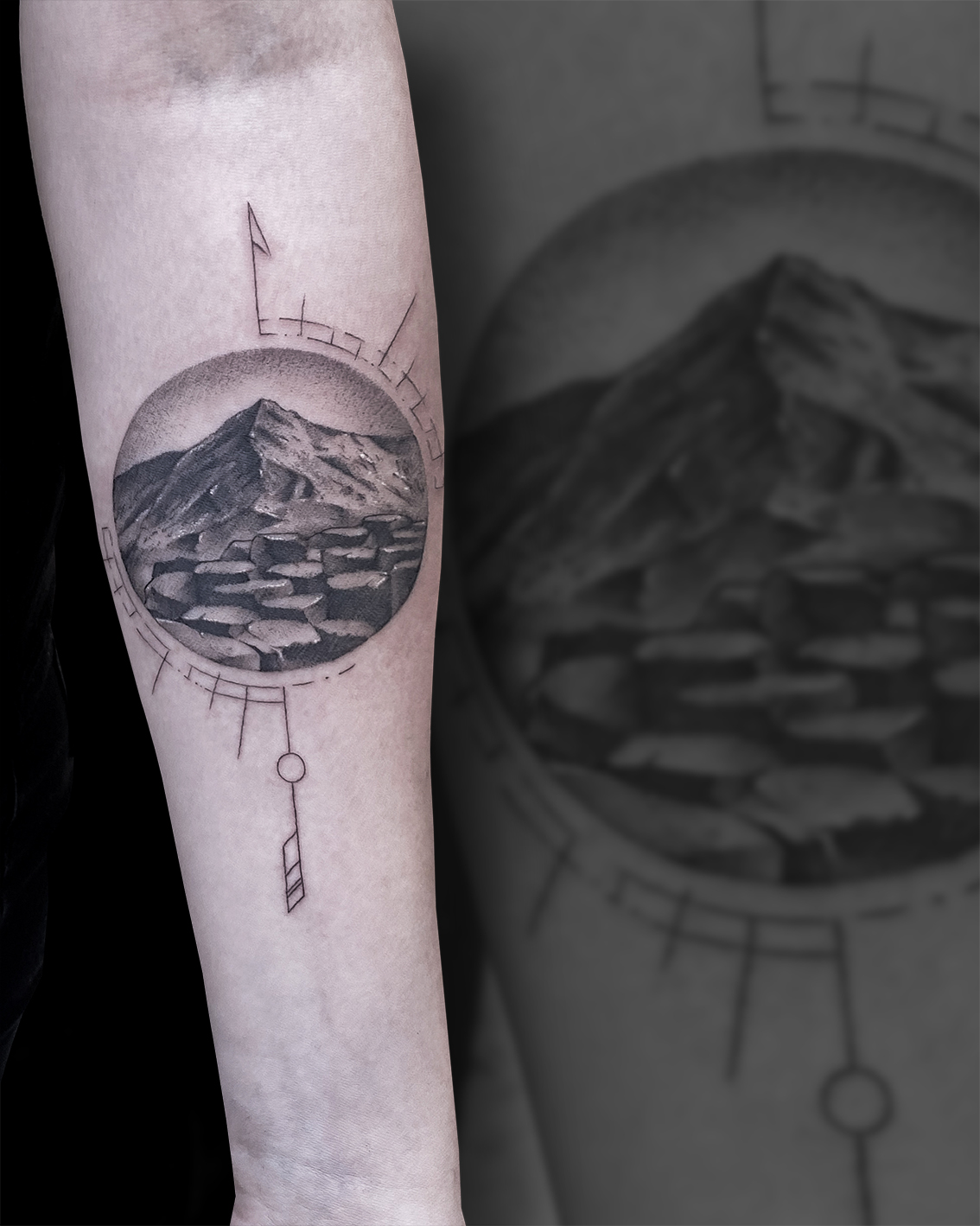 Tattoo Zincik - Mountains tattoo