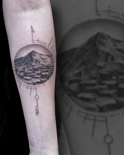 Tattoo Zincik - Mountains tattoo