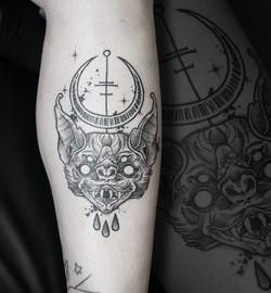 Tattoo Zincik - Bat black tattoo