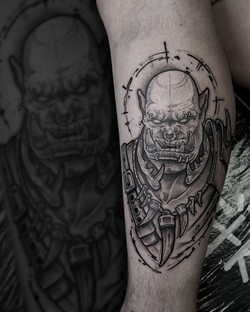 Tattoo Zincik -  Orc wolrd of warcraft .