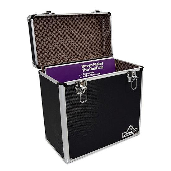 """Gorilla LP50 12"""" Vinyl Storage Box Case Black"""
