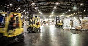 Fork Lift Trucks in a warehouse
