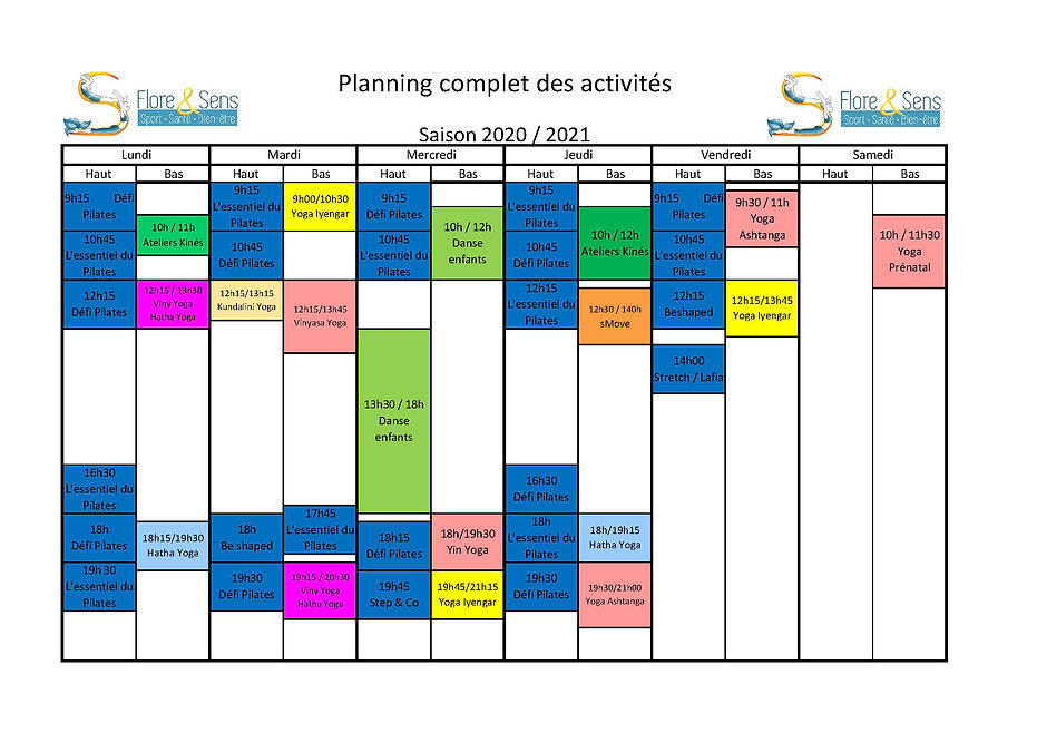 Planning tous cours 2020-2021 presentati