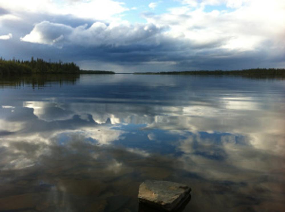 Lake Atimakakin at the edge of Kawawa