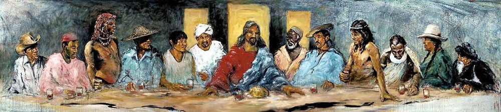 """The Last Supper with Twelve Tribes"" by Hyatt Moore"