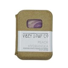 Peach Hydrangea Soap Bar by Vibey Soap Co.