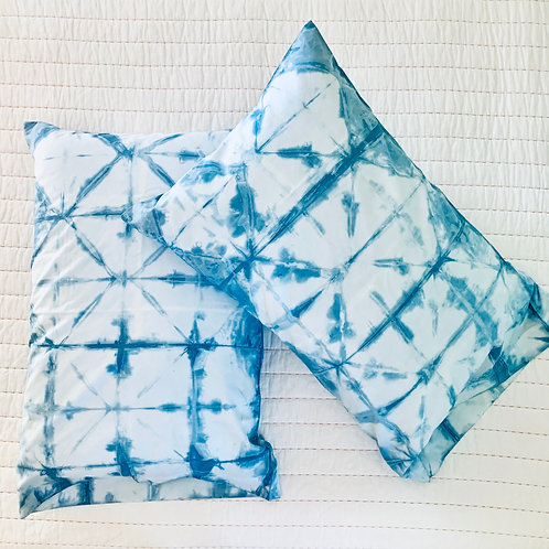 Hand-Dyed Indigo Pillow Cases by Folly James Happy Campers