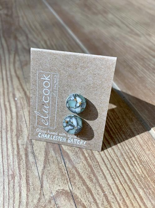 Charleston Battery Glass Stud Earrings by eluCook Designs