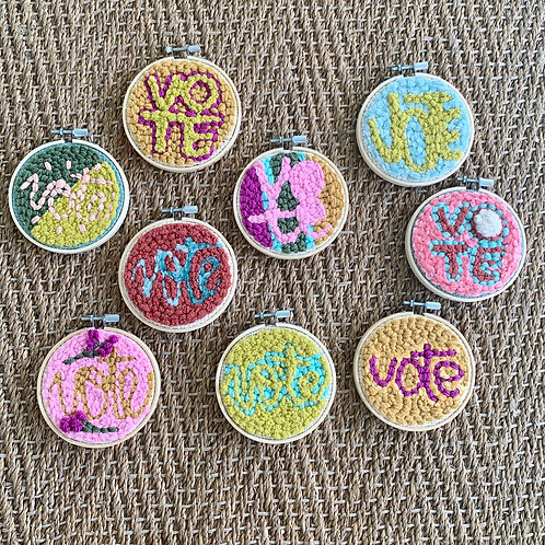 VOTE Punch Needle Embroidery by Mod Elements