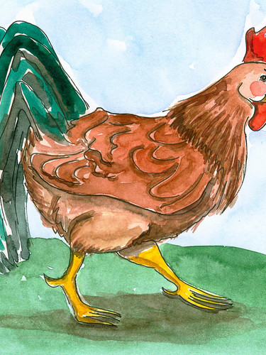 Bauernbörse: Tierkarte Hahn