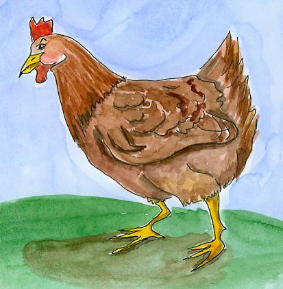 Bauernbörse: Tierkarte Huhn