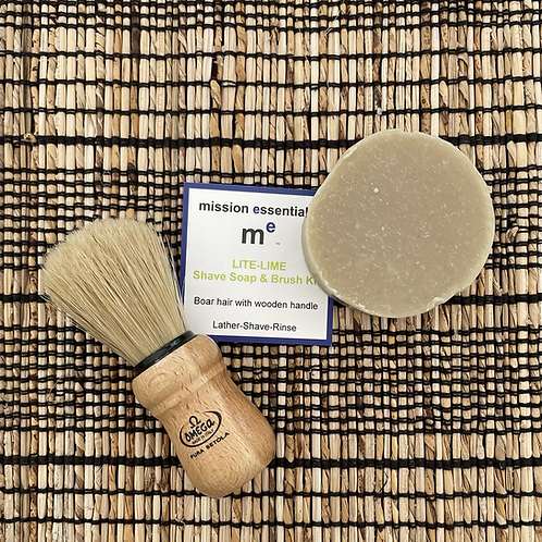Shave Soap and Brush Kit by Mission Essentials
