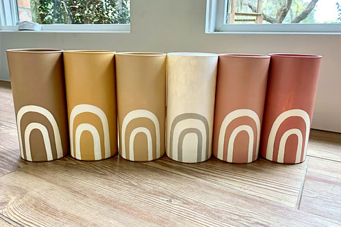 Rainbow Vases by Lula + Sol