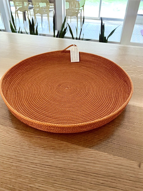 """14"""" Large Tray by Kim's Rope Baskets"""