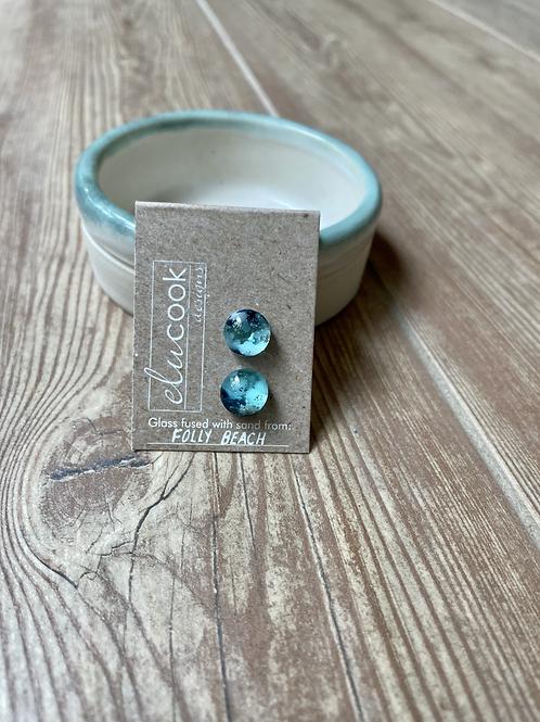 Folly Beach Glass Stud Earrings by eluCook Designs