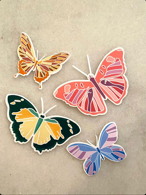Butterfly Stickers by Lady Doodles Co.