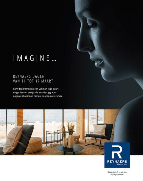 Campagnebeeld 'imagine' | Reynaers Aluminium