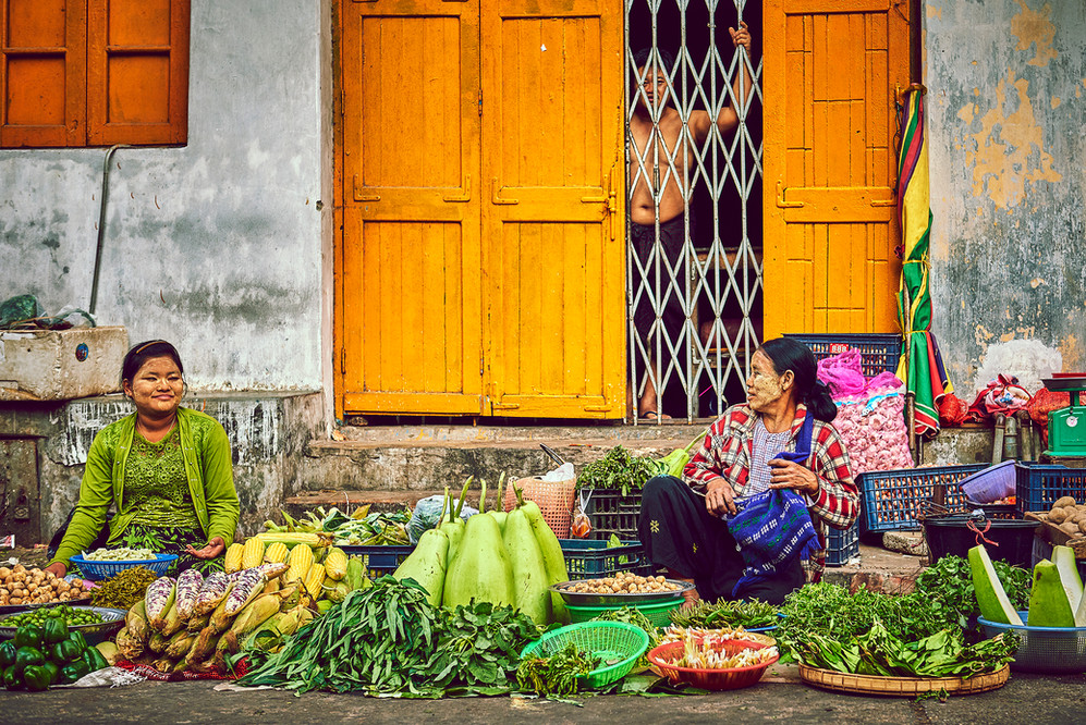 Marktet Yangon Myanmar