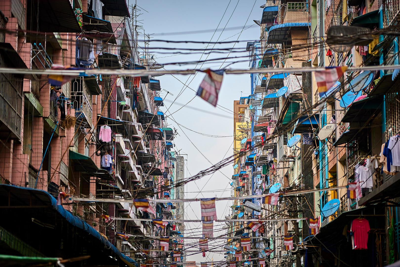 Streets of Yangon Myanmar