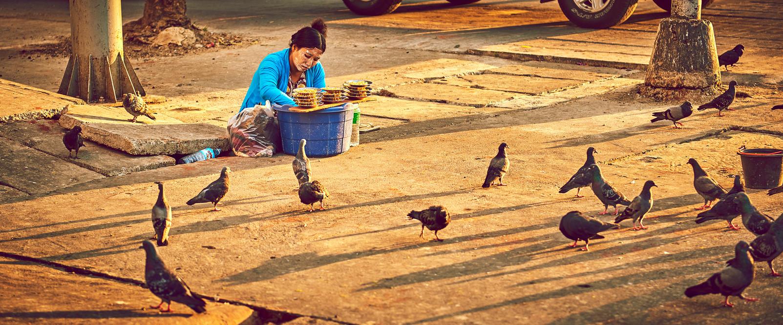 Pigeon girl