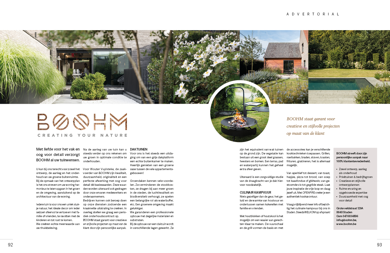Advertorial Boohm voor Exclusief magazin