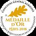 Medaille Or 2018 Concours Général de Paris