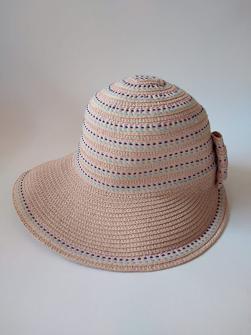 כובע חוםבהיר פסים