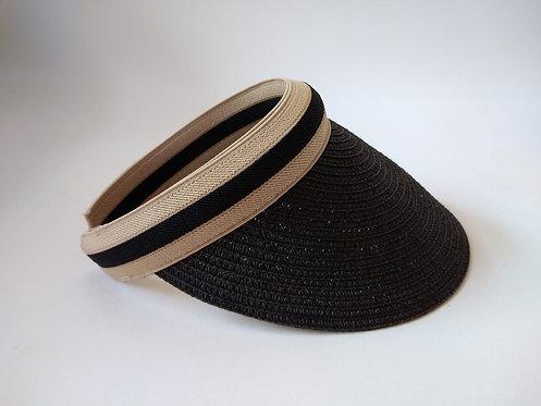 כובע קש מצחייה שחור