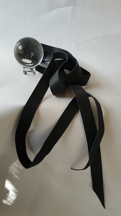 חגורת רצועה שחורה