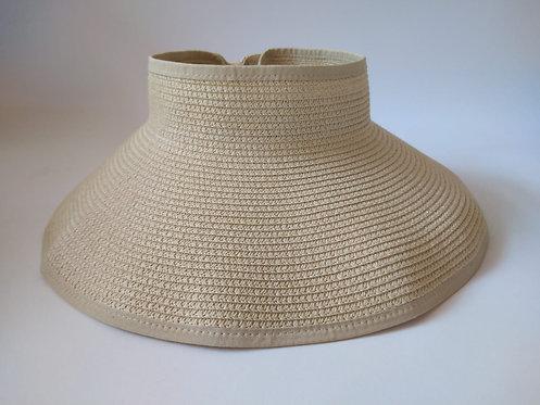 כובע קש נטורל סגור