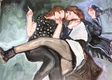 Friday Painting Oil on Aluminium 30 cm x 21 cm