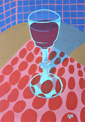 Still life -glass of wine-