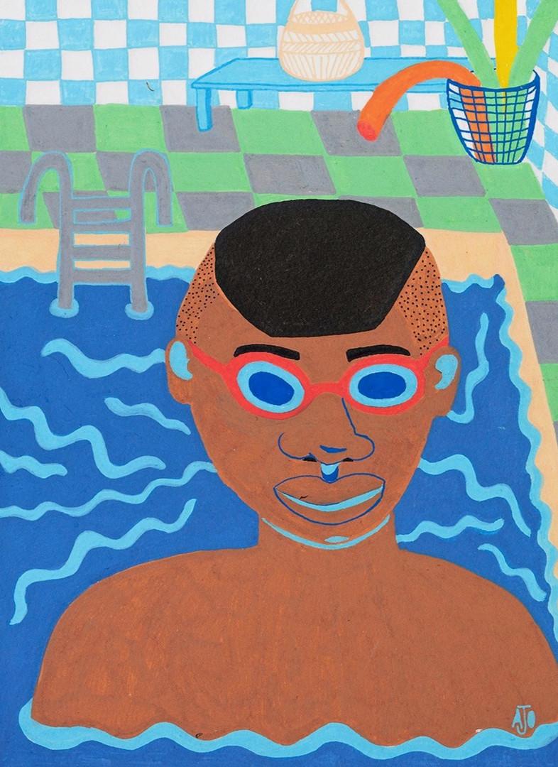 Determined to swim