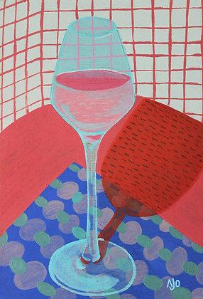 Still life -glass of wine-