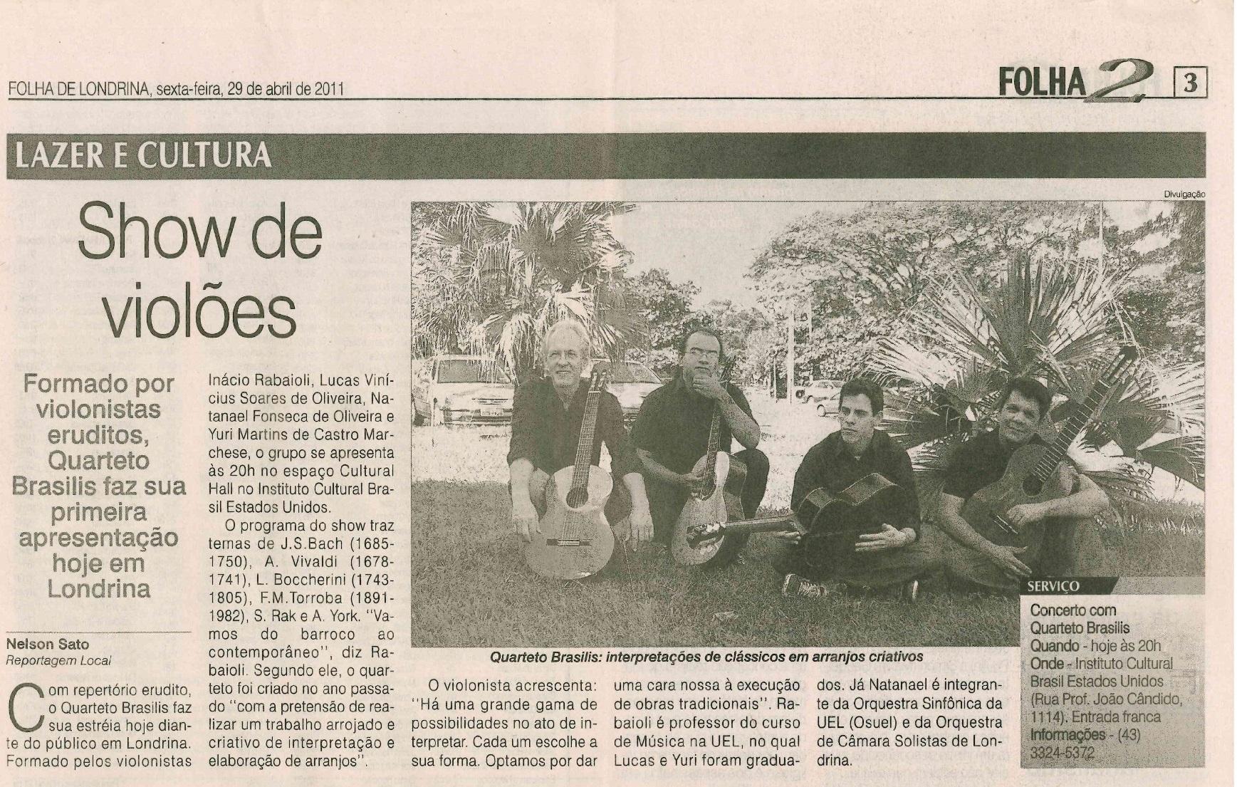 Folha de Londrina 29-04-2011