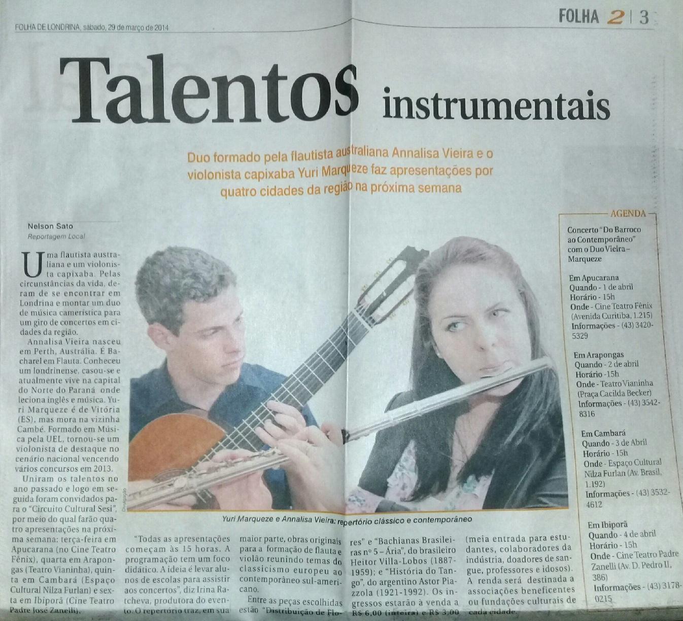 Folha de Londrina 29-03-2014