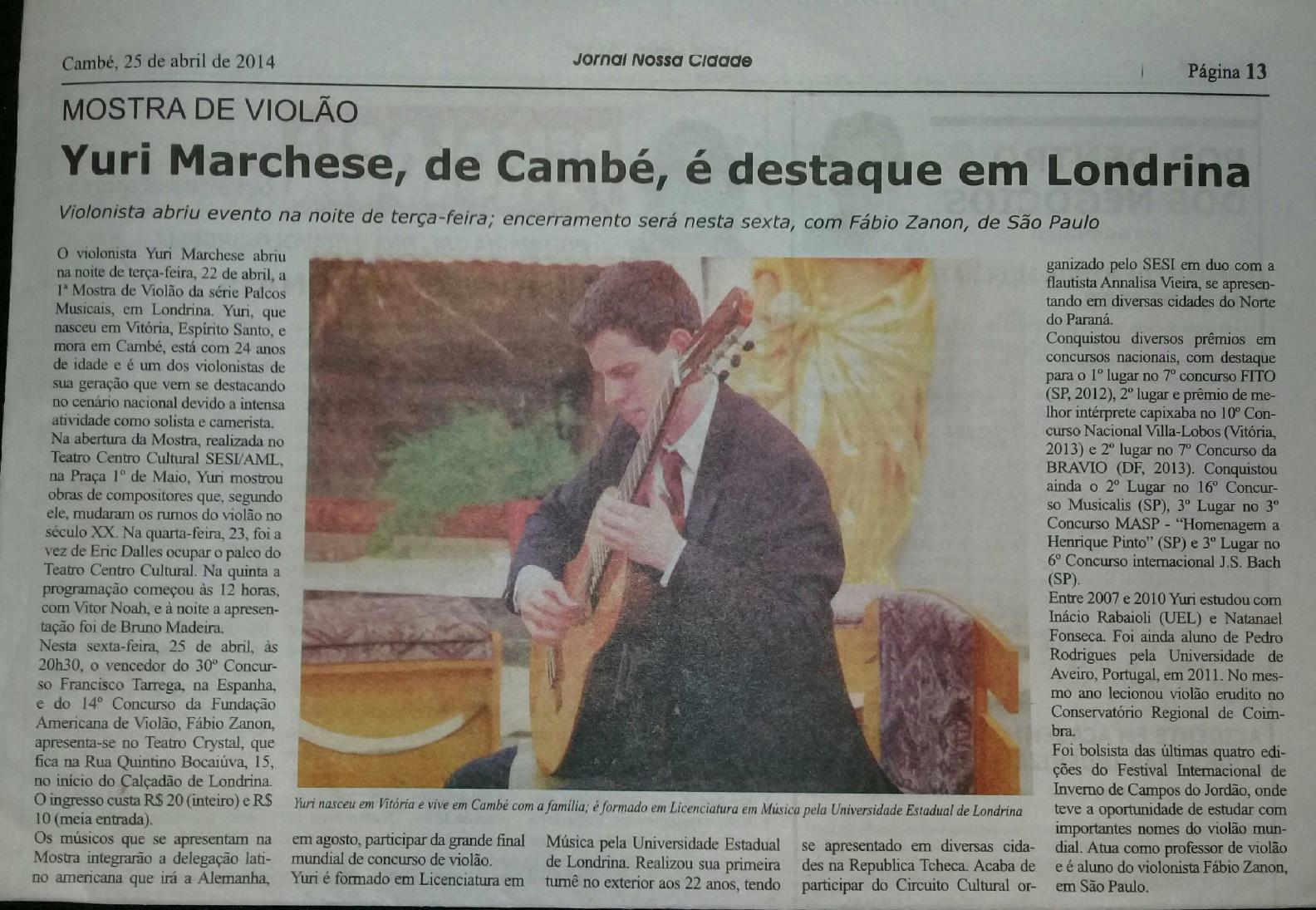 Jornal nossa cidade 24-04-2014