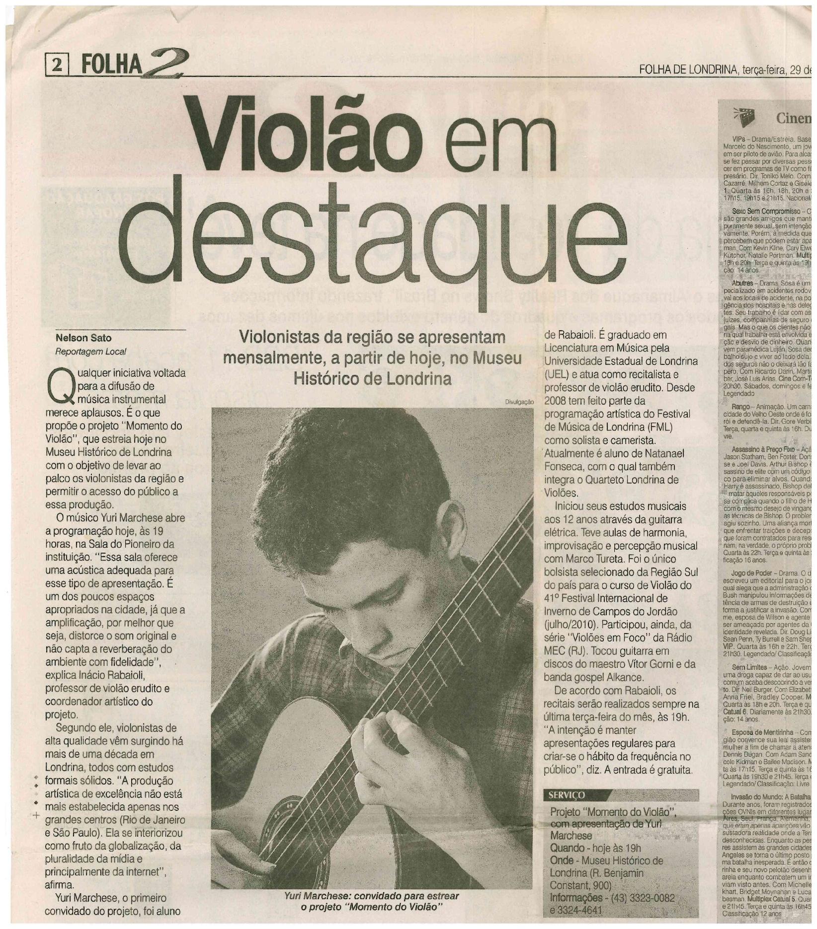 Folha de Londrina 19-03-2011
