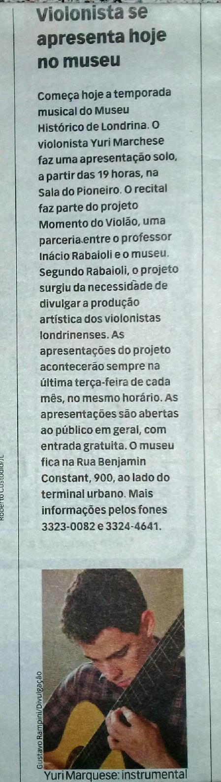 Jornal de Londrina 29-03-2011