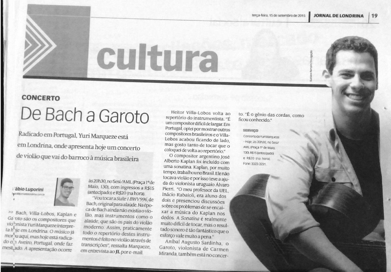 Jornal de Londrina 15-09-2015