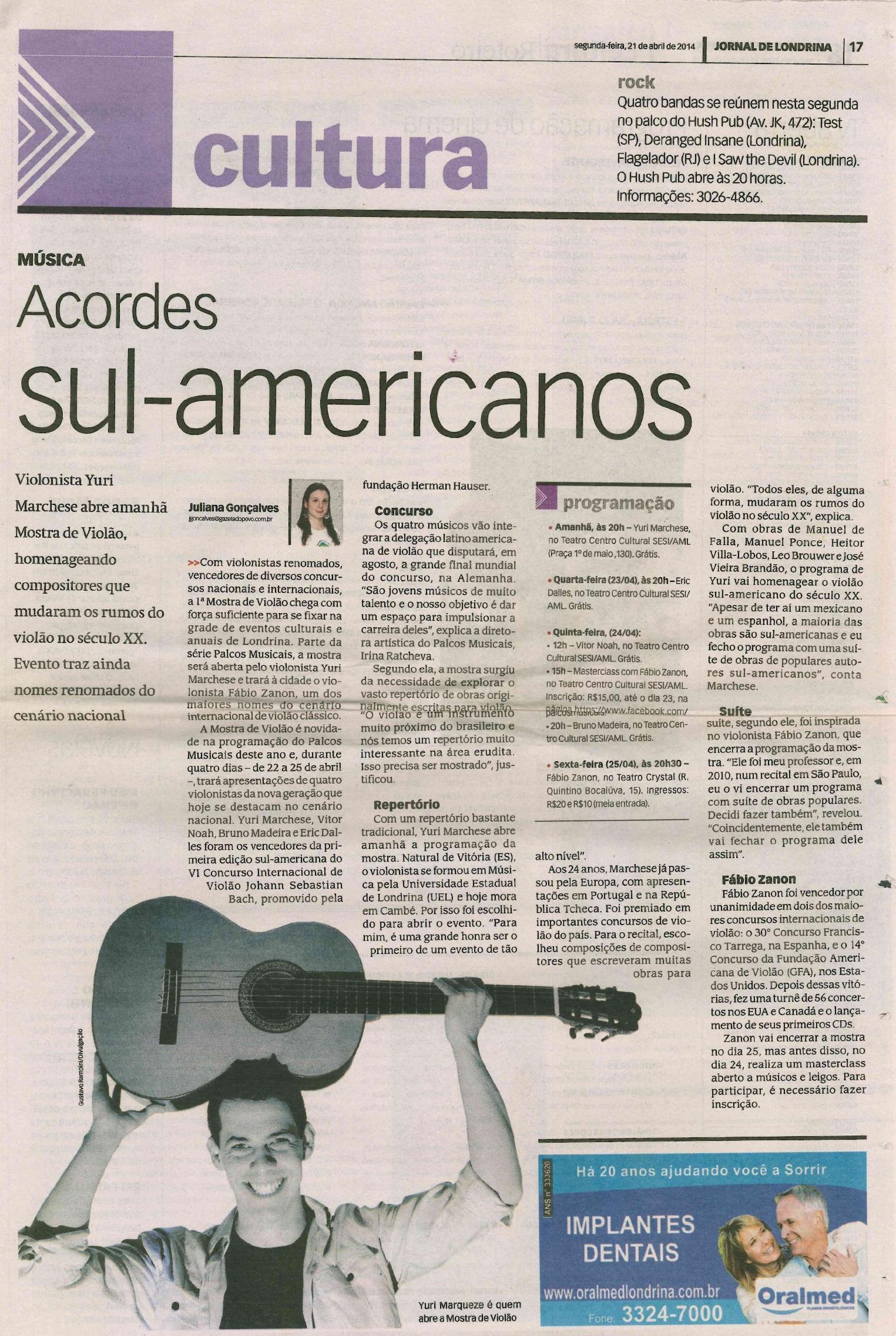 Jornal de Londrina 21-04-2014