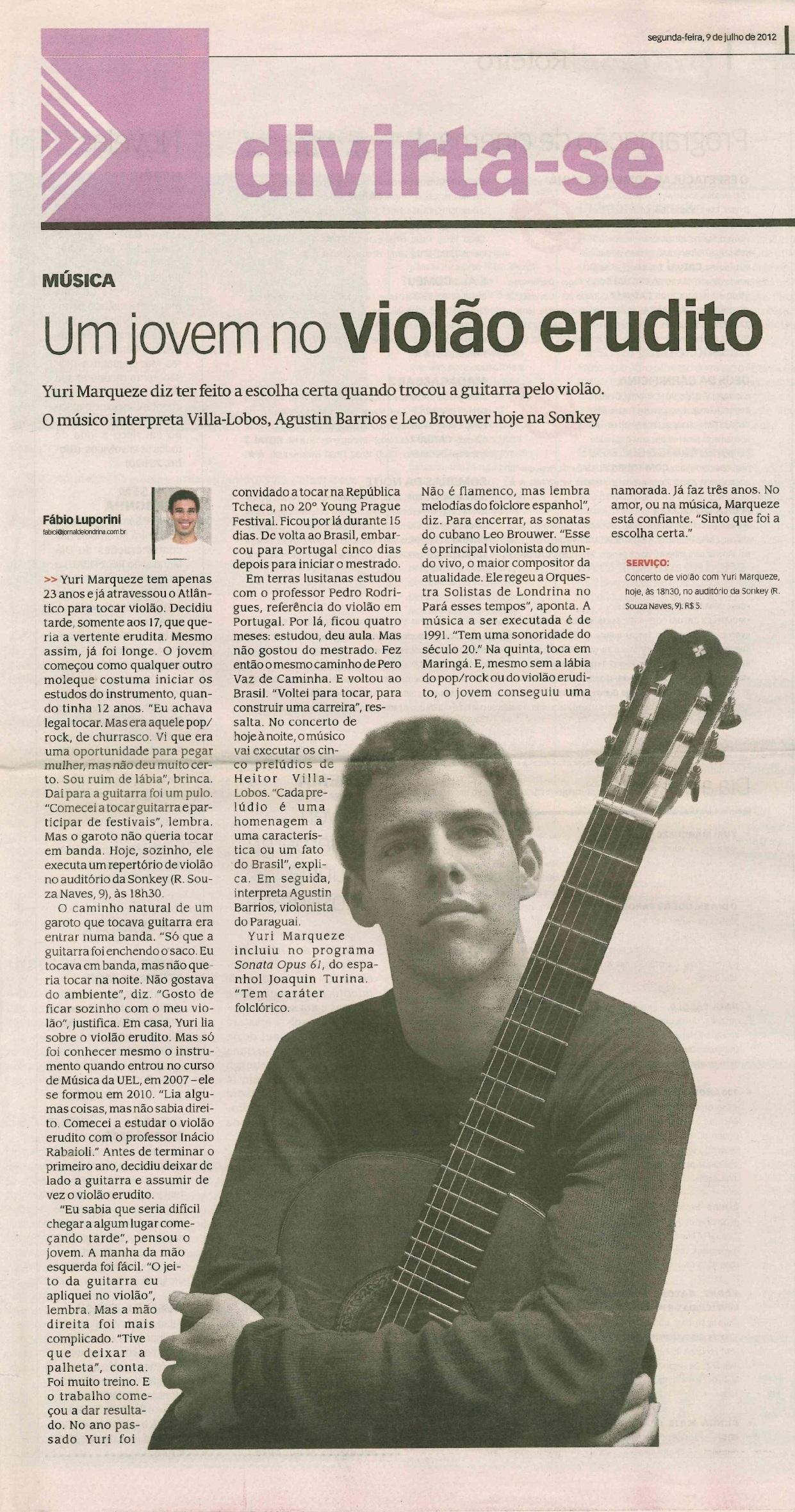 Jornal de Londrina 9-07-2012