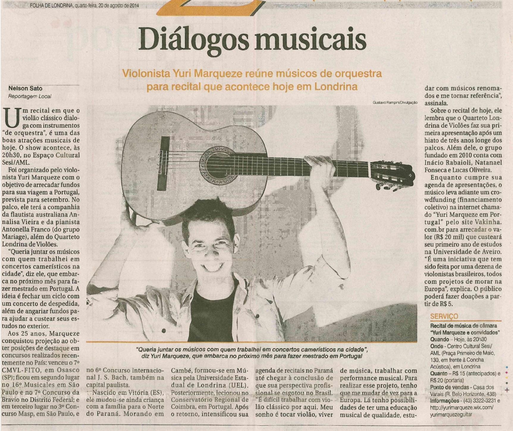 Folha de Londrina 20-08-14
