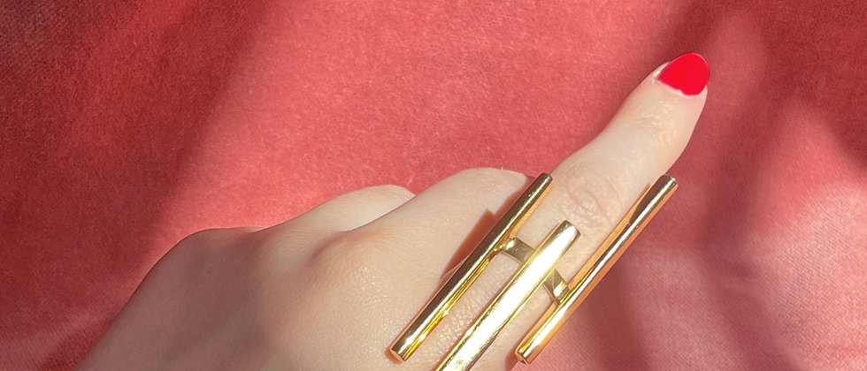 Rare design long ring
