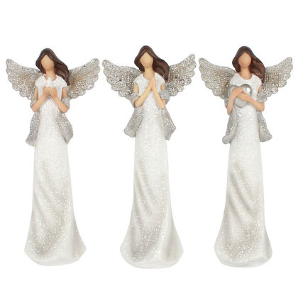 Peace Pray Love Angel Ornaments