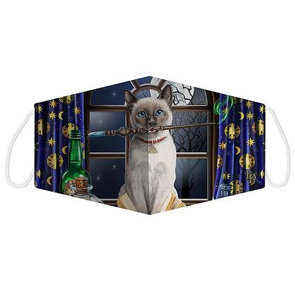 Hocus Pocus Cat Face Covering (Large) - Lisa Parker