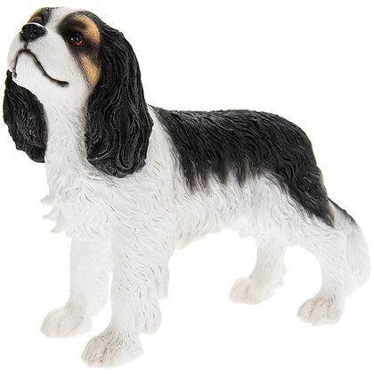 Leonardo Black and White Cavalier King Charles Spaniel Dog Ornament
