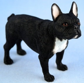 Leonardo Black French Bulldog Dog Ornament