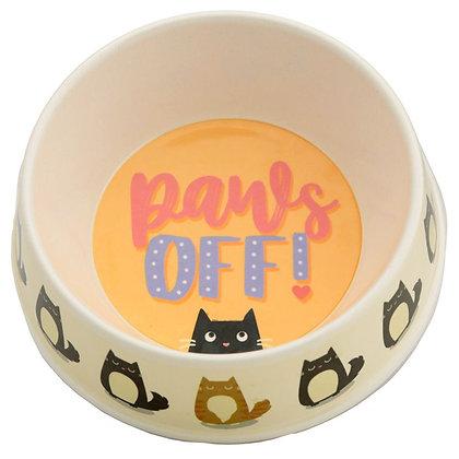 Bamboo Composite Paws Off Feline Fine Cat Bowl - 17cm