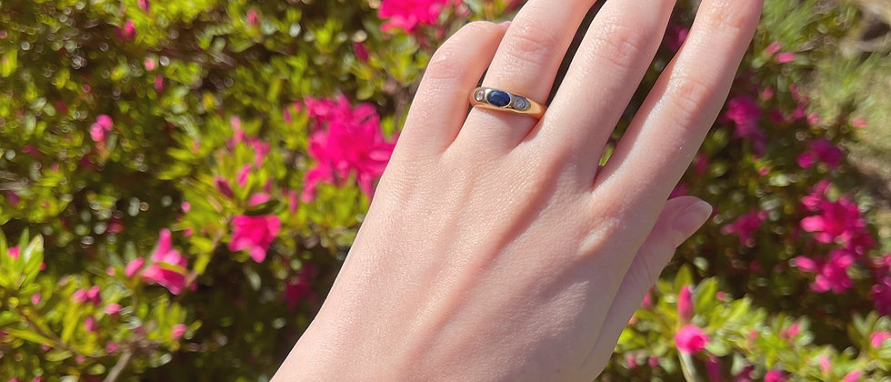 Elegant 18kt gold plated silver band ring